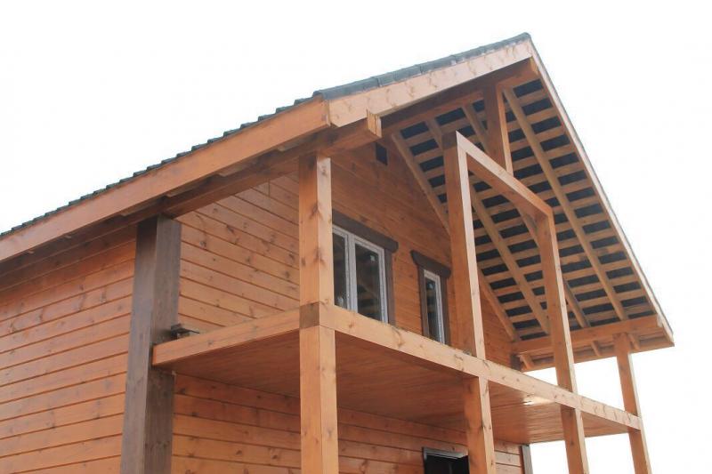 Дом из профилированного бруса, сосна 200х200. п.Близкий