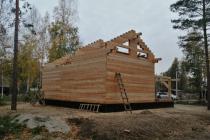 Дом из кедра 190х140 мм. НСО за Красным Яром.
