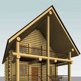 эскиз дома ручной рубки