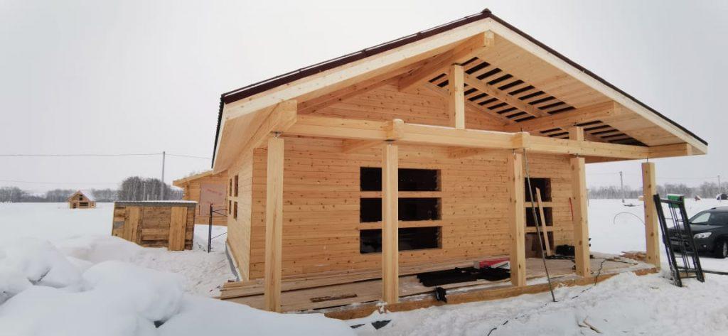 Домокомплект с завершенной крышей